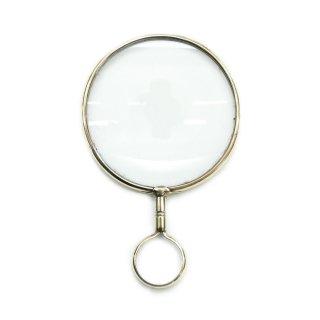 真鍮製 ブラス ハンドルーペ 拡大鏡