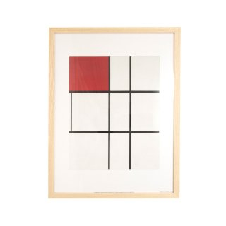 Piet Mondrian(ピエト・モンドリアン) 「Composition B (No.II) with Red」 1935 アートプリント フレームセット