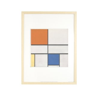 Piet Mondrian(ピエト・モンドリアン)  「Composition C (No.III) with Red, Yellow and Blue」 1935 アートプリント フレームセット