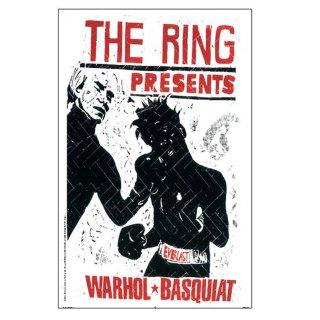 Thomas Kilpper 「Andy Warhol and Jean Michel Basquiat Boxing」 2000 アート ポスター(バスキア & アンディ・ウォーホル)