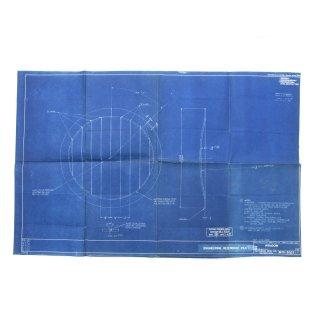 ヴィンテージ  ブループリント 「WINDOW」 青焼き 青図 図面