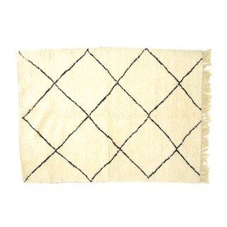 ヴィンテージ ベニワレン ラグマット 絨毯 モロッコ シングルライン