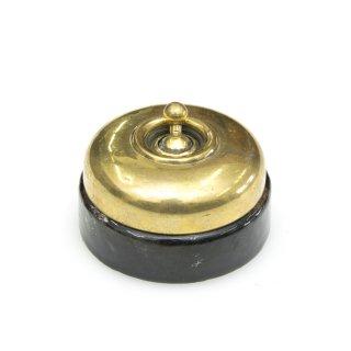 アンティーク トグル スイッチ ブラック 磁器 真鍮 カバー イギリス