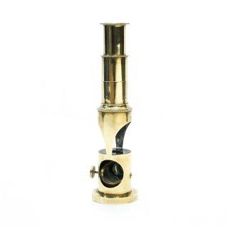 アンティーク 真鍮製 ブラス 顕微鏡 マイクロスコープ