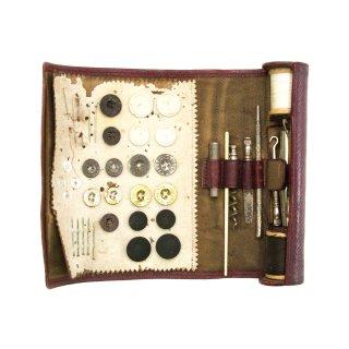 ヴィンテージ ポータブル 裁縫 キット 糸 針 刺繍