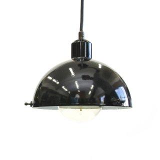 アンティーク エナメル ホーロー ペンダントライト ブラック イタリア ガラス無