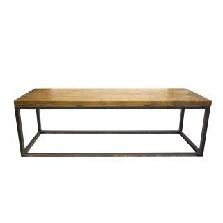 ヴィンテージ アイアンフレーム 無垢材 木製天板 ローテーブル