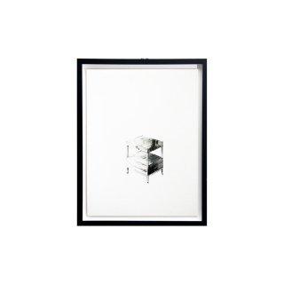 エドワード・ワームリー ヴィンテージ アート インテリア サイドテーブル ハンドドローイング ブラックフレームセット
