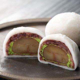 【冷凍】抹茶クリームと渋皮栗の福 1個(3221)