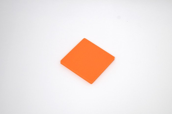 正方形 100mm×100mm×10mm オレンジ