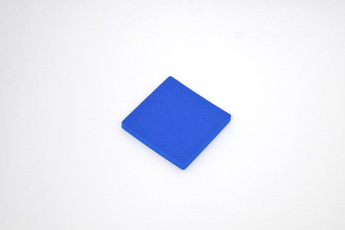 正方形 100mm×100mm×10mm ブルー