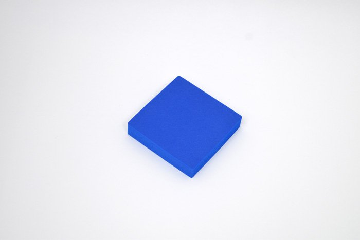 正方形 100mm×100mm×20mm ブルー