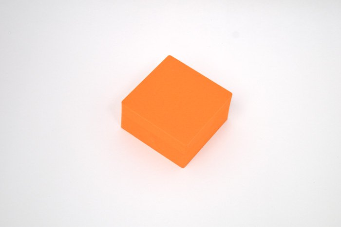 正方形 100mm×100mm×50mm オレンジ