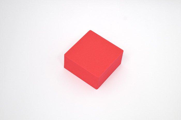 正方形 100mm×100mm×50mm レッド