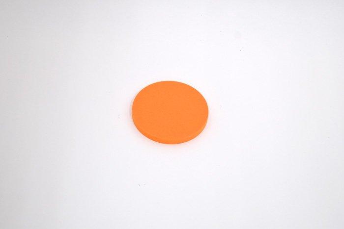 丸型 直径100mm×厚さ10mm オレンジ