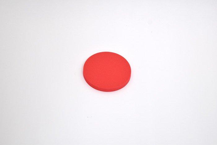 丸型 直径100mm×厚さ10mm レッド