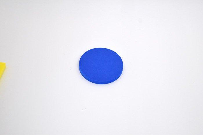 丸型 直径100mm×厚さ10mm ブルー