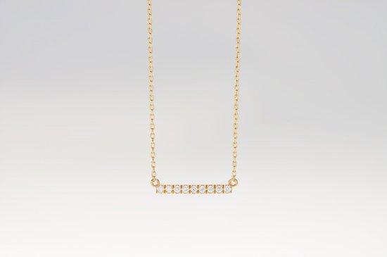 diamonds bar necklace