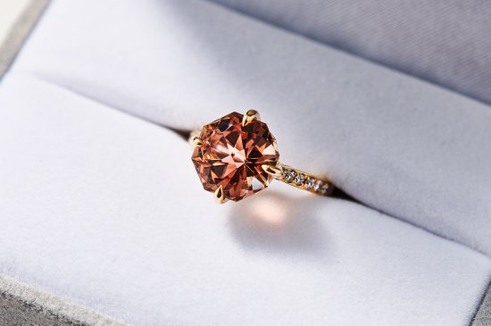 FLORAL RING WITH OREGON SUNSTONE