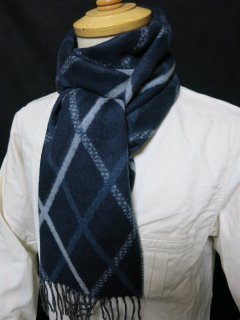 <img class='new_mark_img1' src='https://img.shop-pro.jp/img/new/icons25.gif' style='border:none;display:inline;margin:0px;padding:0px;width:auto;' />Dapper's  Cashmink Scarf by V.FRAAS LOT1084   NVY