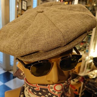 <img class='new_mark_img1' src='https://img.shop-pro.jp/img/new/icons1.gif' style='border:none;display:inline;margin:0px;padding:0px;width:auto;' />1940's Style Newsboy Cap  Brown LINEN
