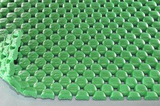 まる球マット/ライトグリーン/厚7mm/幅1m