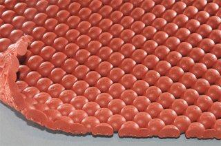 まる球マット/アースカラー/厚10mm/幅1m