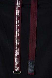 Wool Gabardine BISHOOL Belt wine