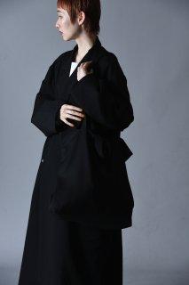 Wool Gabardine Shoulder Bag