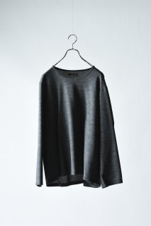 Double Face 01 Knit Sew gray×black