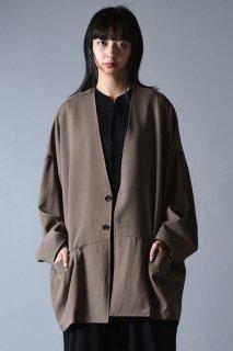 Wool Gabardine 02 Wide Jacket beige