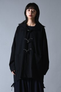 Wool Gabardine Half Duffle Coat