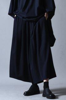 Wool Gabardine 3tuck Big Pants dark navy