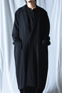 Wool Gabardine Liberty Long Jacket Coat