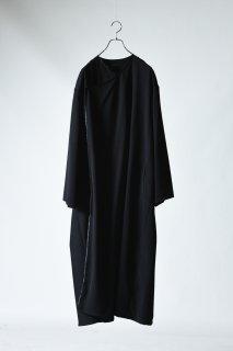 Wool Gabardine Drape Coat
