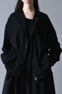 Wool Gabardine Zip Cardigan