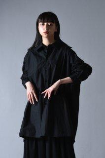 Old Cotton LS Big Shirt black
