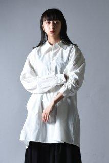Old Cotton LS Big Shirt white