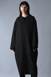 Wool Gabardine 01 Rapel Long Coat dark khaki