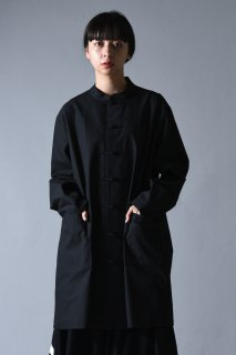 Old Cotton China Big Shirt black