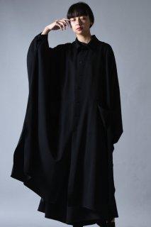 Wool Gabardine Over Mantle Coat