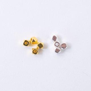 メタルビーズ 多面 5mm(4個入り)