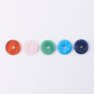 パワーストーンパーツ 円盤型ペンダントトップ(1個入り)
