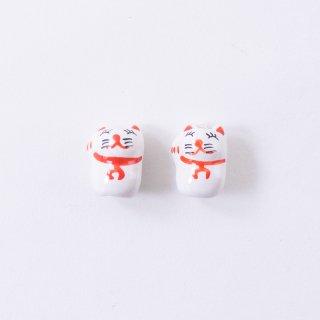 陶玉ビーズ 招き猫(2個入り)