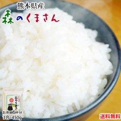 森のくまさん 米 送料無料 お試し 450g 3合 熊本県産 お米 白米 玄米 コシヒカリ ヒノヒカリ