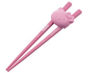 ハローキティ シリコンホルダー付き 子供用 トレーニング箸【右利き用】/ATC1_221903
