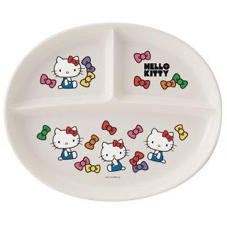 食洗機対応ポリプロピレン製ランチ皿●ハローキティ フェイス(リボン)●/XP17_254994