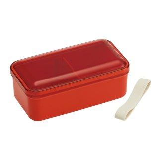 ふんわり弁当箱 580ml 仕切り付 レトロフレンチカラー オレンジレッド|食洗機対応|電子レンジ対応/SLLB6_374975