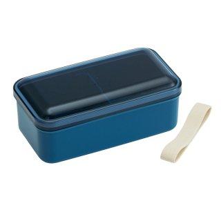 ふんわり弁当箱 580ml 仕切り付 レトロフレンチカラー ネイビー|食洗機対応|電子レンジ対応/SLLB6_375002