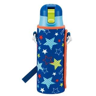ロック付 直飲みステンレスボトル カバー付き 470ml スター|保冷専用|子供用/KSDC4_376054